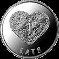1 lats - Gingerbread heart