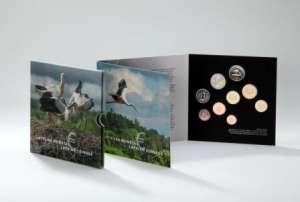 Latvian euro coins SET / Stork / BU