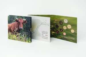 Latvian euro coins Set / Latvian Brown Cow / BU