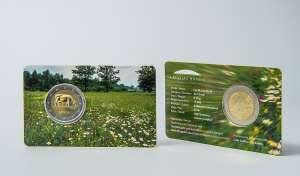 2 Eiro monēta / Latvijas brūna govs / BU